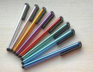 Kapacitní stylus - dotykové pero - dlouhé - fialové