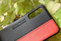 Pouzdro Autofocus na Samsung A50 A505 - černo-červené
