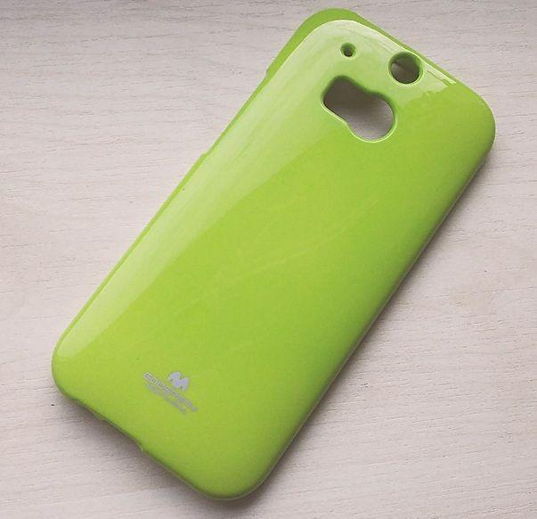 Pouzdro Goospery Mercury Jelly na HTC One 2 M8 - zelené