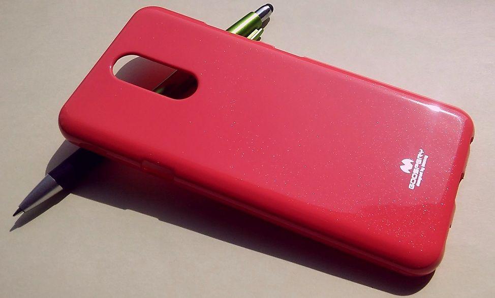 Pouzdro Goospery Mercury Jelly na LG K40 - růžové