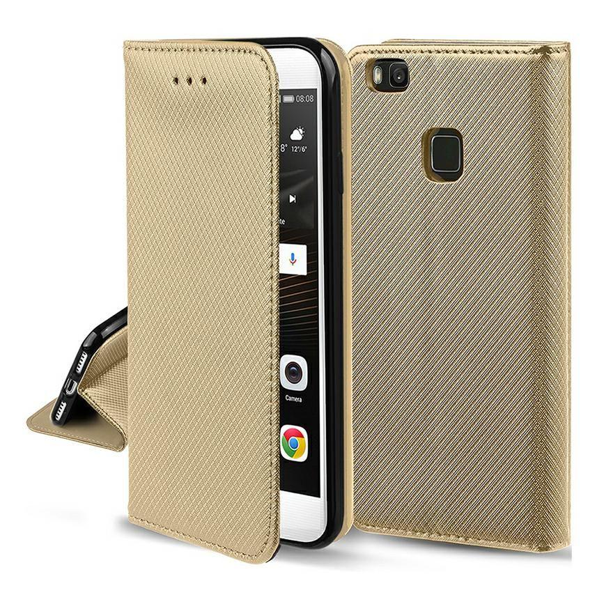 Pouzdro Sligo Smart pro Motorola Moto G7 / G7+ - Magnet - zlaté Sligo Case