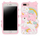 Jelly Case na iPhone X / iPhone XS - Animal 3D pohádka - růžové