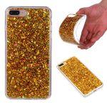 Jelly Case na iPhone X / iPhone XS - flitry - zlaté