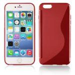 S Case pouzdro iPhone 4 / 4s - červené transparent