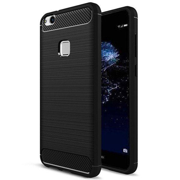 Pouzdro Jelly Case na Huawei P40 Lite - Carbon LUX - černé