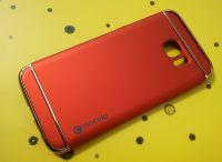 Mocolo pouzdro na Samsung S7 Edge - Luxury - červené