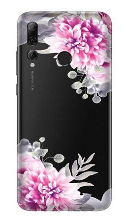 Pouzdro Casegadget pro LG K10 - bílé květy - čiré