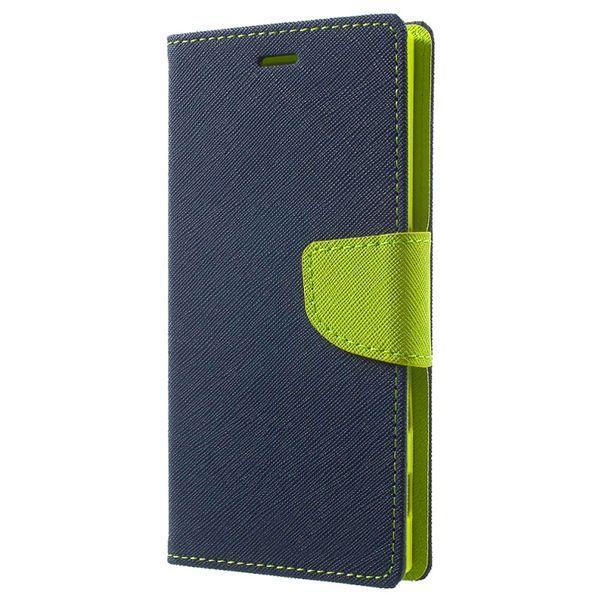 Pouzdro Fancy Case na Samsung A21s - tmavě modré