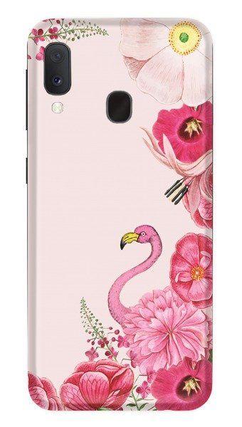 Pouzdro Funny Case pro Samsung A20e - Flaming - růžové