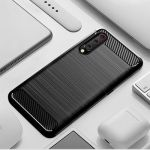 Pouzdro Jelly Case na Xiaomi Mi A3 - Carbon LUX - černé