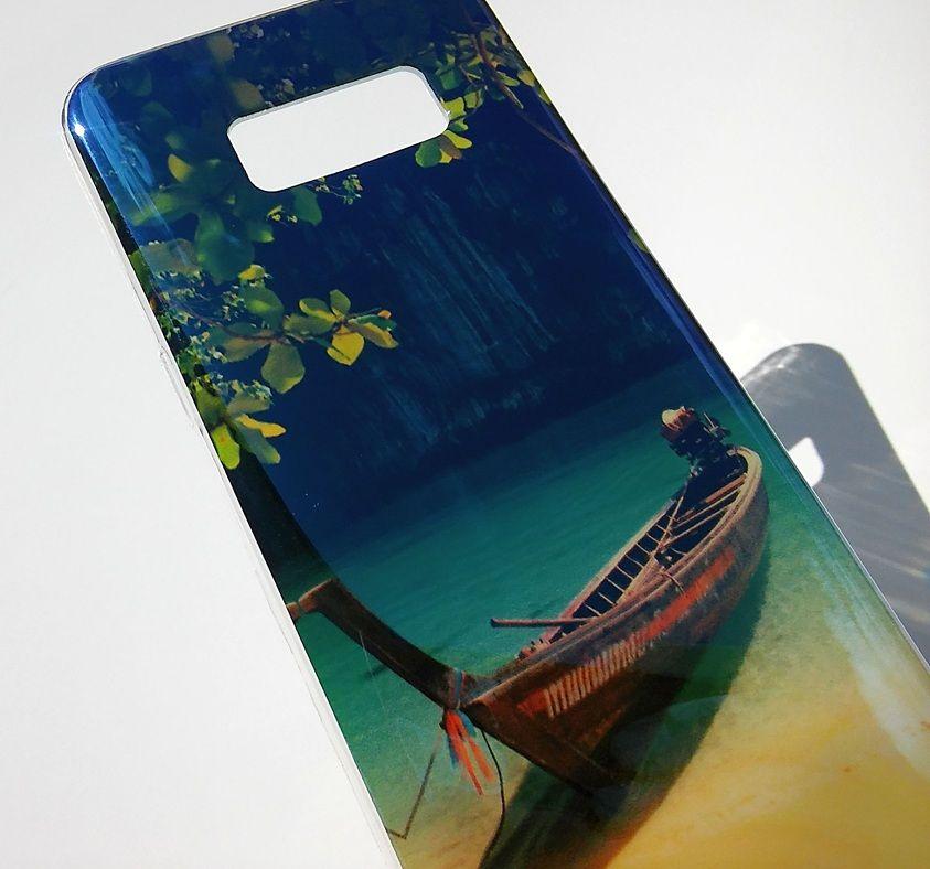 Pouzdro Jelly na Samsung Galaxy S8 - loď - modré Jelly Case