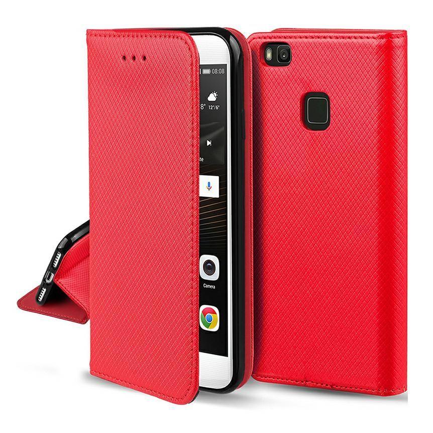 Pouzdro Sligo Smart na Huawei Y5 2019 - Power Magnet - červené Sligo Case
