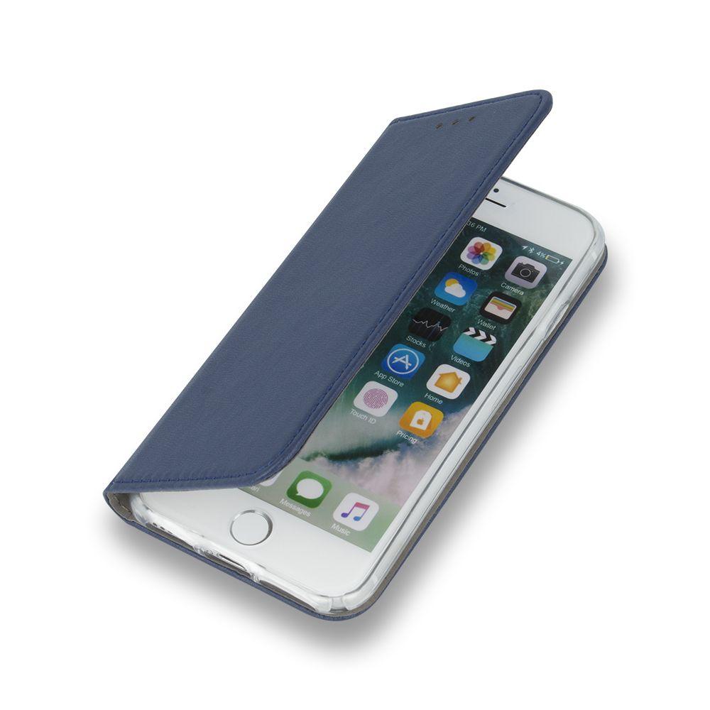 Pouzdro Sligo Smart na Huawei Y6 2019 - Magnet Book - tmavě modré Sligo Case