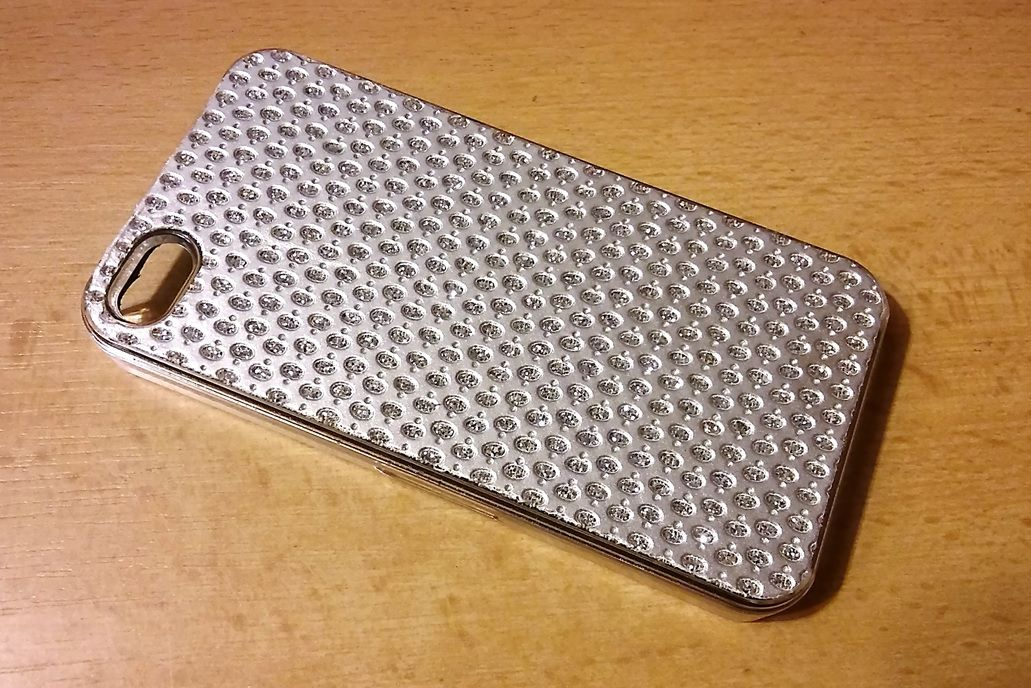 Ego mobile na iPhone 4 / 4S - Shiny crystal - stříbrné