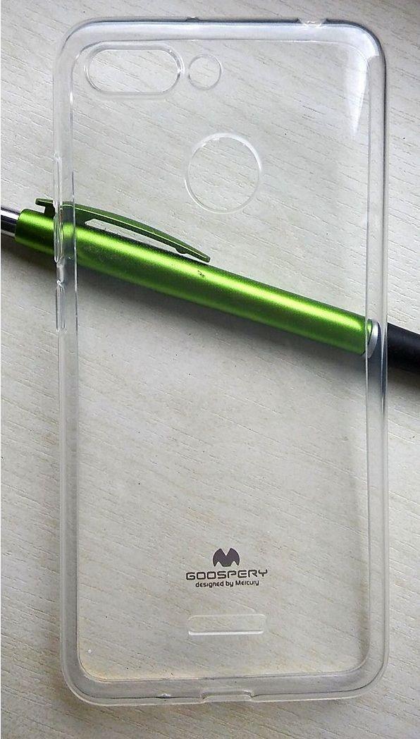 Pouzdro Goospery Mercury Soft na LG Q7 - čiré