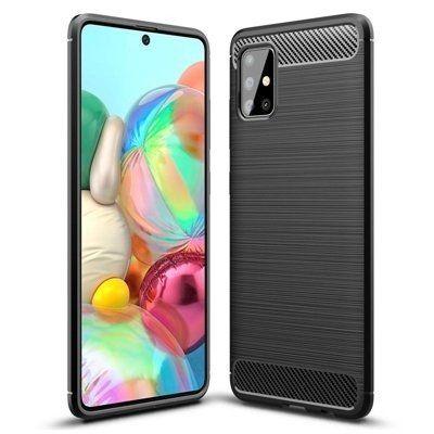 Pouzdro Jelly Case na Samsung A71 5G - Carbon LUX - černé