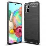 Pouzdro Jelly Case na Samsung M31s - Carbon LUX - černé