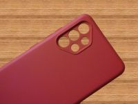 Pouzdro Jelly Case na Samsung A32 4G - Matt - bordo